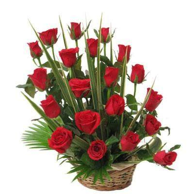 send flower Sadiq Nagar DelhiRoses Arrangement